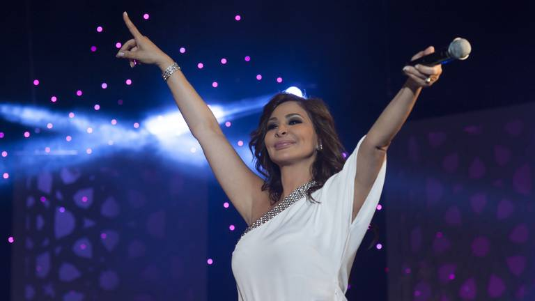 An image that illustrates this article Lebanese pop star Elissa