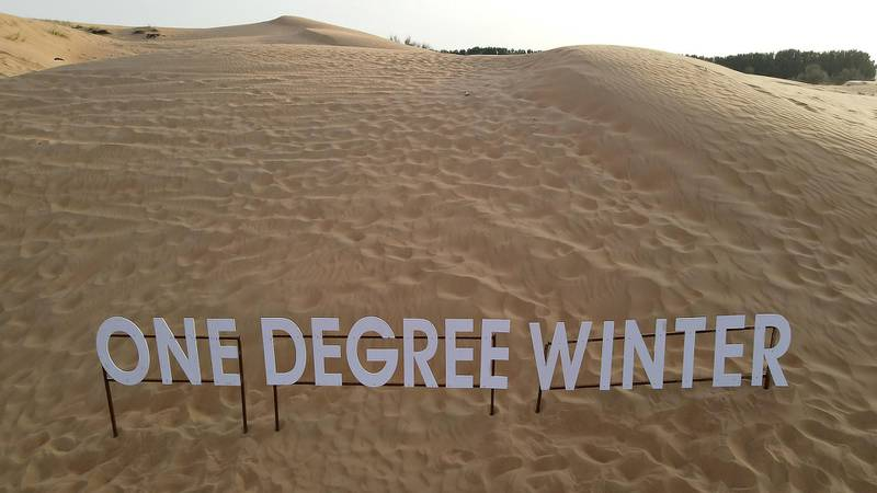 DUBAI, UNITED ARAB EMIRATES , March 1, 2021 – View of the One Degree Café signage in Margham area in Dubai. (Pawan Singh / The National) For Lifestyle/Instagram/Online. Story by Janice