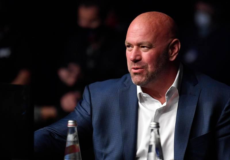 ABU DHABI, UNITED ARAB EMIRATES - JULY 12: UFC president Dana White looks on during the UFC 251 event at Flash Forum on UFC Fight Island on July 12, 2020 on Yas Island, Abu Dhabi, United Arab Emirates. (Photo by Jeff Bottari/Zuffa LLC)