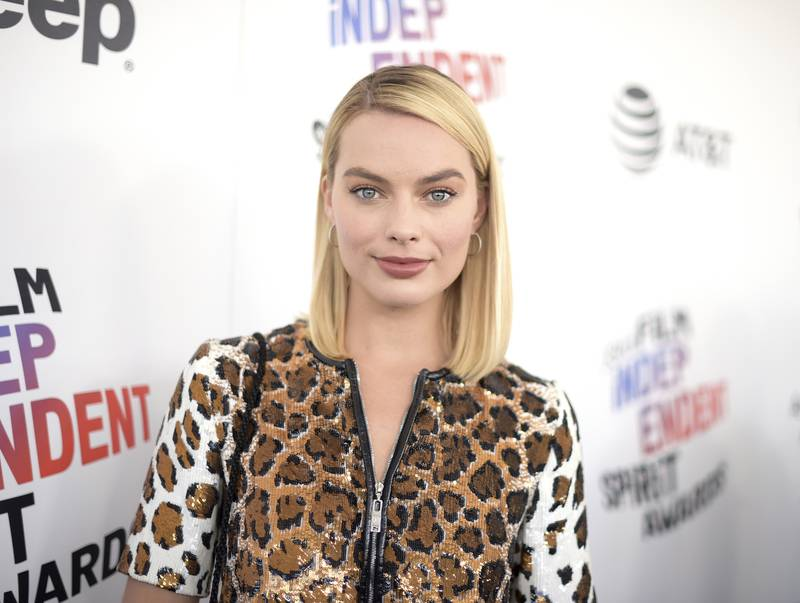 Margot Robbie arrives at the 33rd Film Independent Spirit Awards on Saturday, March 3, 2018, in Santa Monica, Calif. (Photo by Richard Shotwell/Invision/AP)