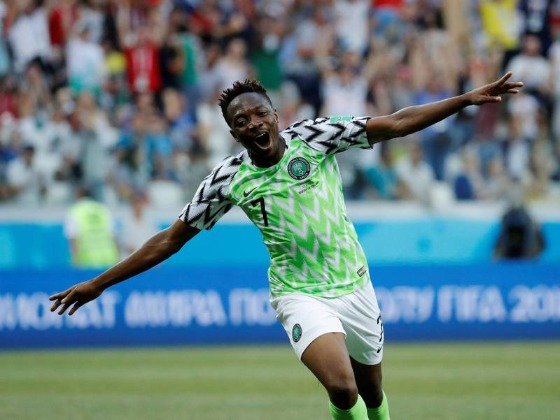 Soccer Football - World Cup - Group D - Nigeria vs Iceland - Volgograd Arena, Volgograd, Russia - June 22, 2018   Nigeria's Ahmed Musa celebrates scoring their second goal    REUTERS/Toru Hanai     TPX IMAGES OF THE DAY