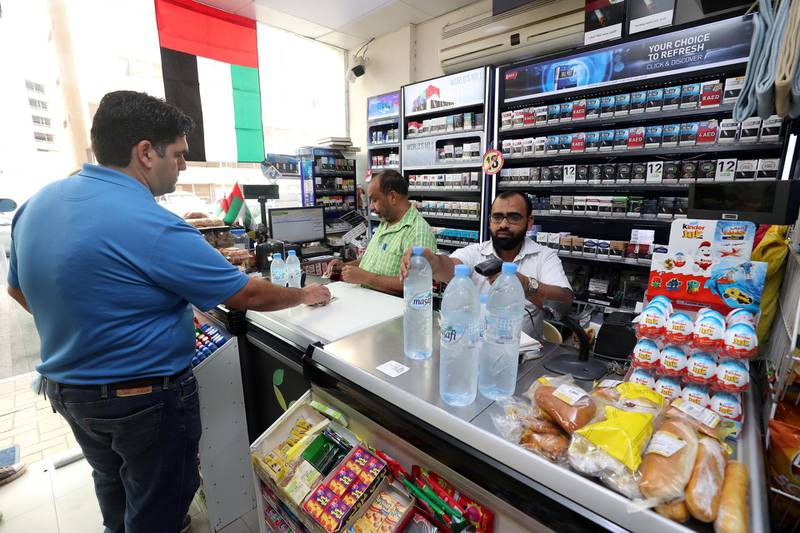 Abu Dhabi, United Arab Emirates - December 27th, 2017:  Local shop Baqala to go with a story on VAT. Wednesday, December 27th, 2017 in Abu Dhabi. Chris Whiteoak / The National
