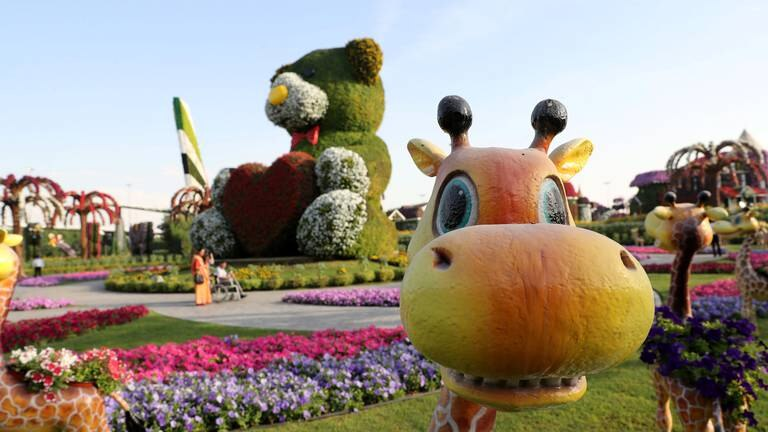 An image that illustrates this article Dubai Miracle Garden to reopen in November with new Smurfs Village
