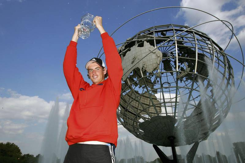 NEW YORK - SEPTEMBER 12:   Boy's Junior winner, Andrew Murray of Great Britain stands with his trophy during the US Open September 12, 2004 at the USTA National Tennis Center in Flushing Meadows Corona Park in the Flushing neighborhood of the Queens borough of New York.Murray defeated Sergiy Stakhovsky of the Ukraine.  (Photo by Matthew Stockman/Getty Images)