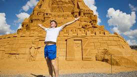 World's tallest sandcastle shaped like a pyramid completed in Denmark