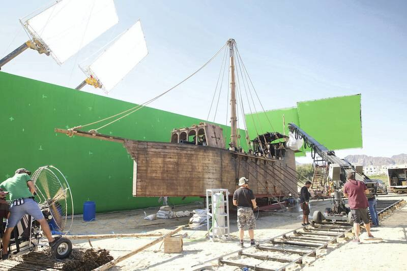 Behind the scenes images of Emirati film Khorfakkan, based on book by Sharjah Ruler.Courtesy: Sharjah Broadcasting Authority.