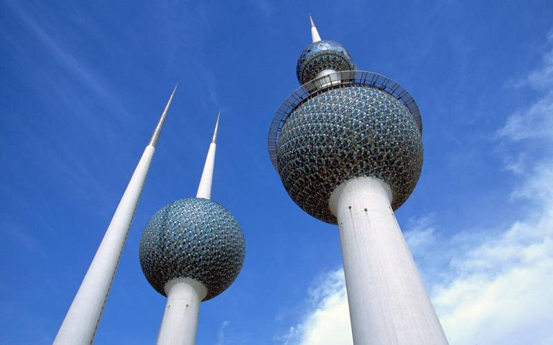 Water towers, Kuwait City, Middle East. (Photo by Giles Barnard/Construction Photography/Avalon/Getty Images)