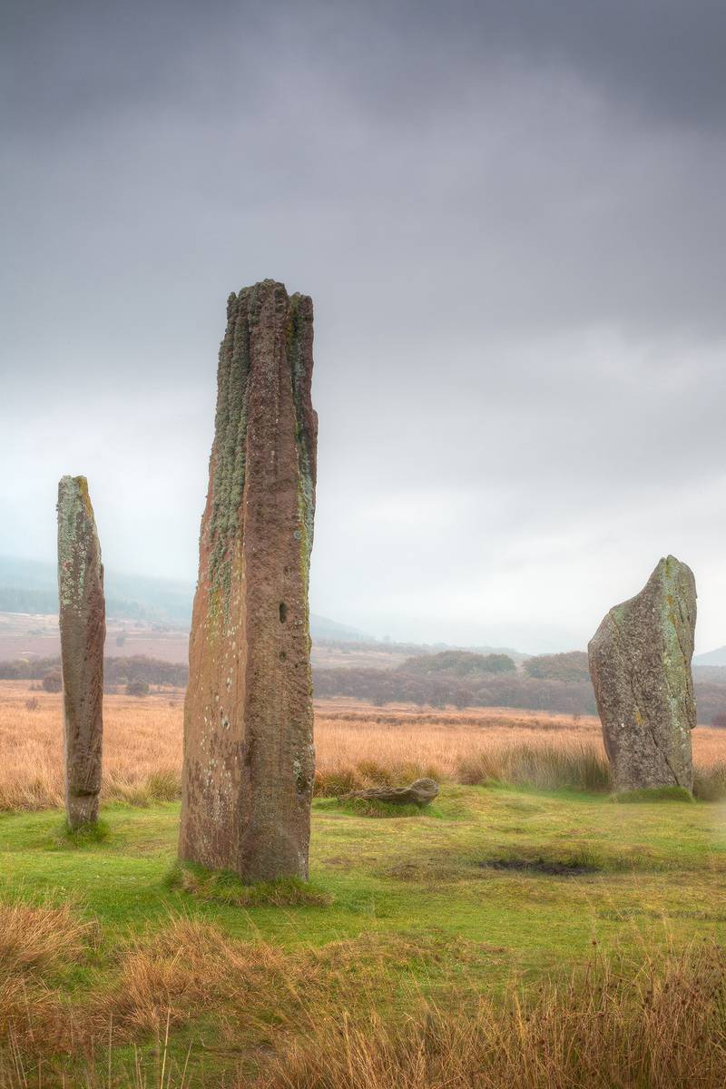 A stone circle at Machrie Moor on the isle of Arran. (Photo by: Loop Images/Universal Images Group via Getty Images)