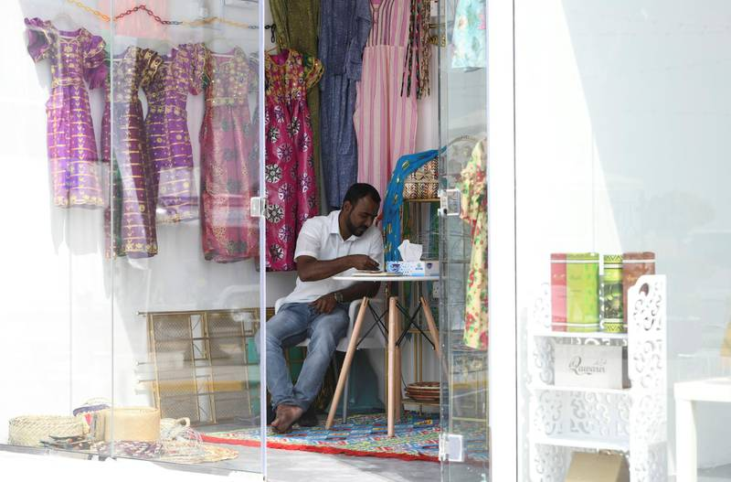 Abu Dhabi, United Arab Emirates - Small arts and crafts boutiques to engage with the community at the grand opening of MARSA MINA, at Zayed Port. Khushnum Bhandari for The National