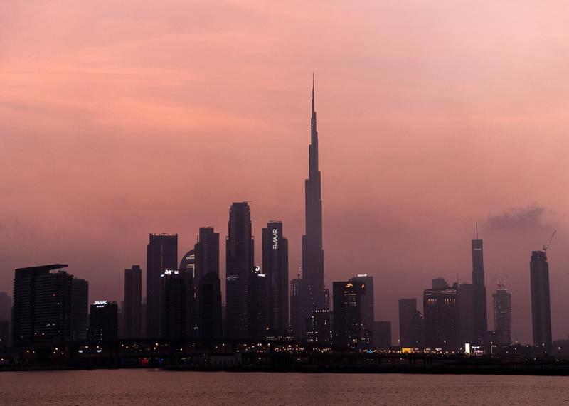 DUBAI, UNITED ARAB EMIRATES. 4 AUGUST 2020. Dubai skyline.(Photo: Reem Mohammed/The National)Reporter:Section: