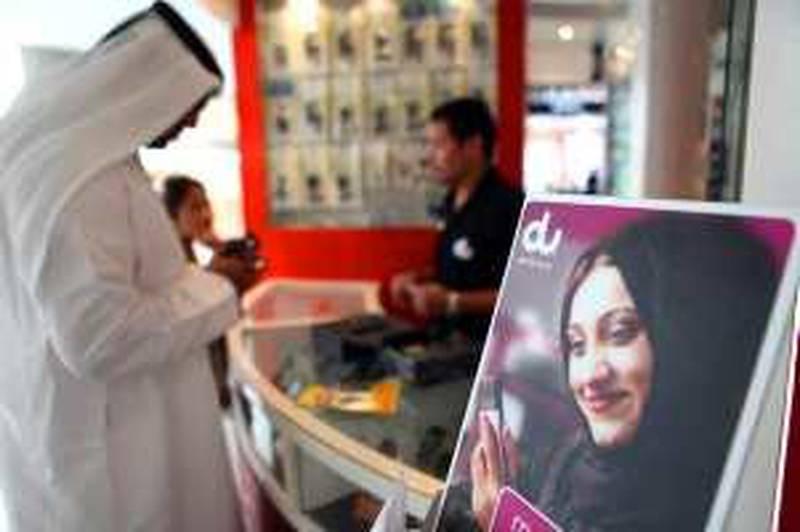 United Arab Emirates - Abu Dhabi - April 29th, 2009:  Advertisements for the telecommunications company, Du.(Galen Clarke/The National) *** Local Caption ***  GC04_29042009_Du.JPG