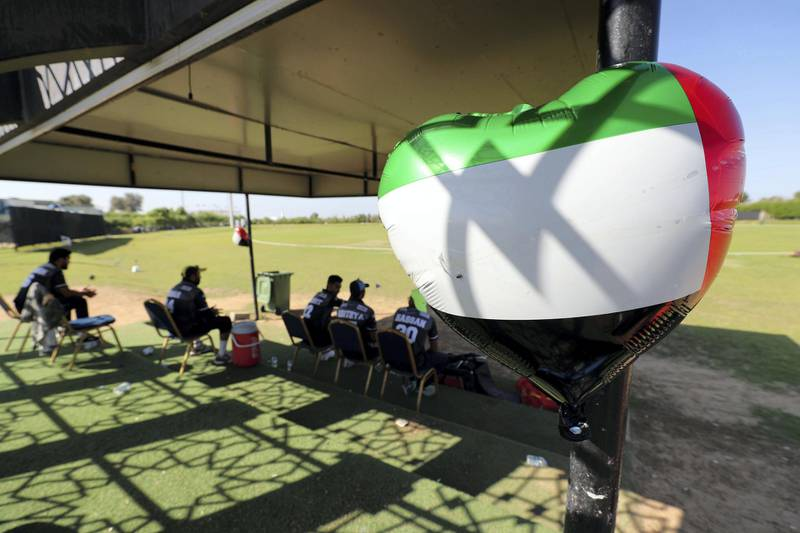 Ajman, United Arab Emirates - December 02, 2020: National Day. People watch a local cricket match on National day in Ajman. Wednesday, December 2nd, 2020 in Ajman. Chris Whiteoak / The National