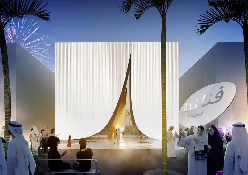 The Finland Pavilion at Expo 2020 Dubai. Courtsey : Expo 2020 Dubai.