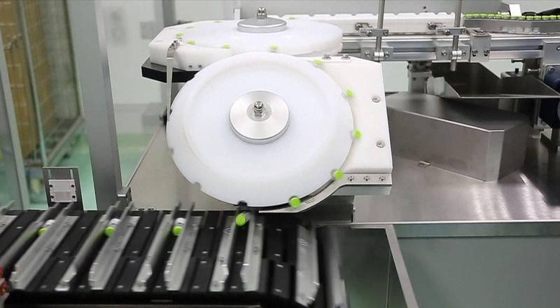 A screenshot of video showing the production of Hayat-Vax in the Kizad, UAE. Courtesy G42