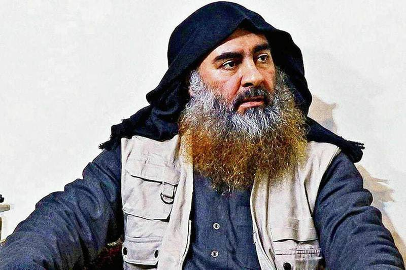 epa07971238 An undated handout photo made available by the US Department of Defense (DOD) shows Abu Bakr Al-Baghdadi, who was the Iraqi-born leader of the so-called Islamic State in Iraq and Syria (ISIS) terrorist organization (issued 04 November 2019). According to a statement by US President Donald J. Trump, Abu Bakr Al-Baghdadi killed himself and two children by detonating a suicide vest on 27 October 2019 during a raid conducted by US forces in Syria's northwestern Idlib Province. ISIS media on 31 October 2019 confirmed the death of Baghdadi, and named Abu Ibrahim al-Hashimi al-Qurayshi as his replacement.  EPA/US DEPARTMENT OF DEFENSE HANDOUT  HANDOUT EDITORIAL USE ONLY/NO SALES