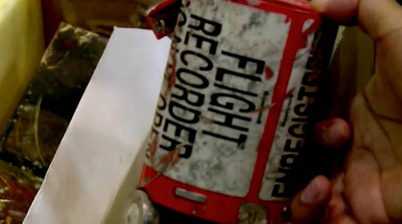 A flight recorder, also known as a black box, purportedly recovered from the crashed Ukrainian airliner, Boeing 737-800, is seen in this still image taken from a video, in Teheran, Iran January 10, 2020.  IRIB VIA WANA/Handout via REUTERS  THIS IMAGE HAS BEEN SUPPLIED BY A THIRD PARTY.  NO USE IRAN. NO USE BBC PERSIAN. NO USE VOA PERSIAN. NO USE MANOTO. NO USE IRAN INTERNATIONAL. NO USE IRAN INTERNATIONAL. NO THIRD PARTY SALES. NOT FOR USE BY REUTERS THIRD PARTY DISTRIBUTORS. IRAN OUT. NO COMMERCIAL OR EDITORIAL SALES IN IRAN.   NO RESALES. NO ARCHIVES  REFILE - CORRECTING YEAR