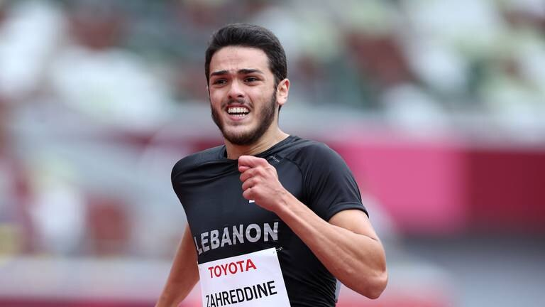 An image that illustrates this article Lebanon's Arz Zahreddine posts personal best in 200 metres
