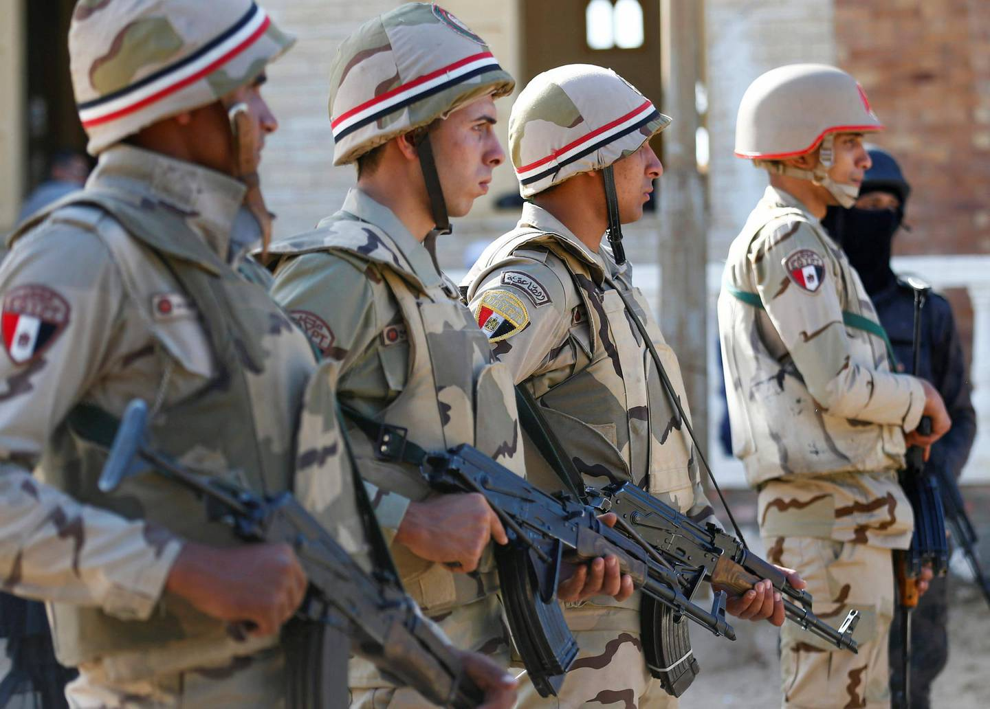 Military forces are seen in North Sinai, Egypt, December 1, 2017. Picture taken December 1, 2017. REUTERS/Mohamed Abd El Ghany