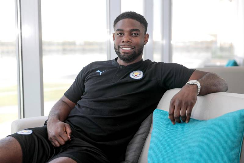 Abu Dhabi, United Arab Emirates, September 5, 2019.   Micah Richards who played in the Premiere League and Aston Villa.Victor Besa / The NationalSection:  SPReporter:  Amith Passela