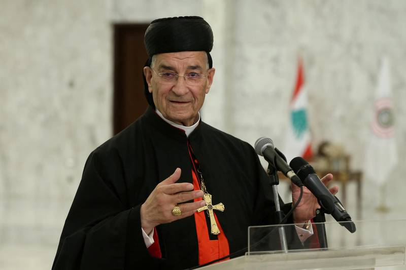 FILE PHOTO: Lebanese Maronite Patriarch Bechara Boutros Al-Rai speaks after meeting with Lebanon's President Michel Aoun at the presidential palace in Baabda, Lebanon July 15, 2020. Dalati Nohra/Handout via REUTERS ATTENTION EDITORS - THIS IMAGE WAS PROVIDED BY A THIRD PARTY/File Photo