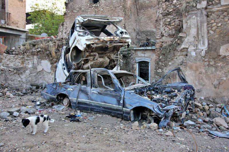 IRAQ-MOSUL_S TWO GOVERNORS-PICTURED-The level of destruction inflicted on Mosul during the war is still very clear to see. Charlie Faulkner for The National