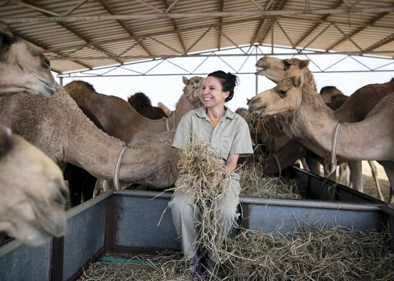 DUBAI, UNITED ARAB EMIRATES. 25 JANUARY 2021. Dr Clara Malo, senior scientist and head of andrology, Camel Reproduction Centre.(Photo: Reem Mohammed/The National)Reporter:Section: