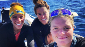 Dubai residents battle 120kph winds and 15m waves in 4,400km Great Pacific Race