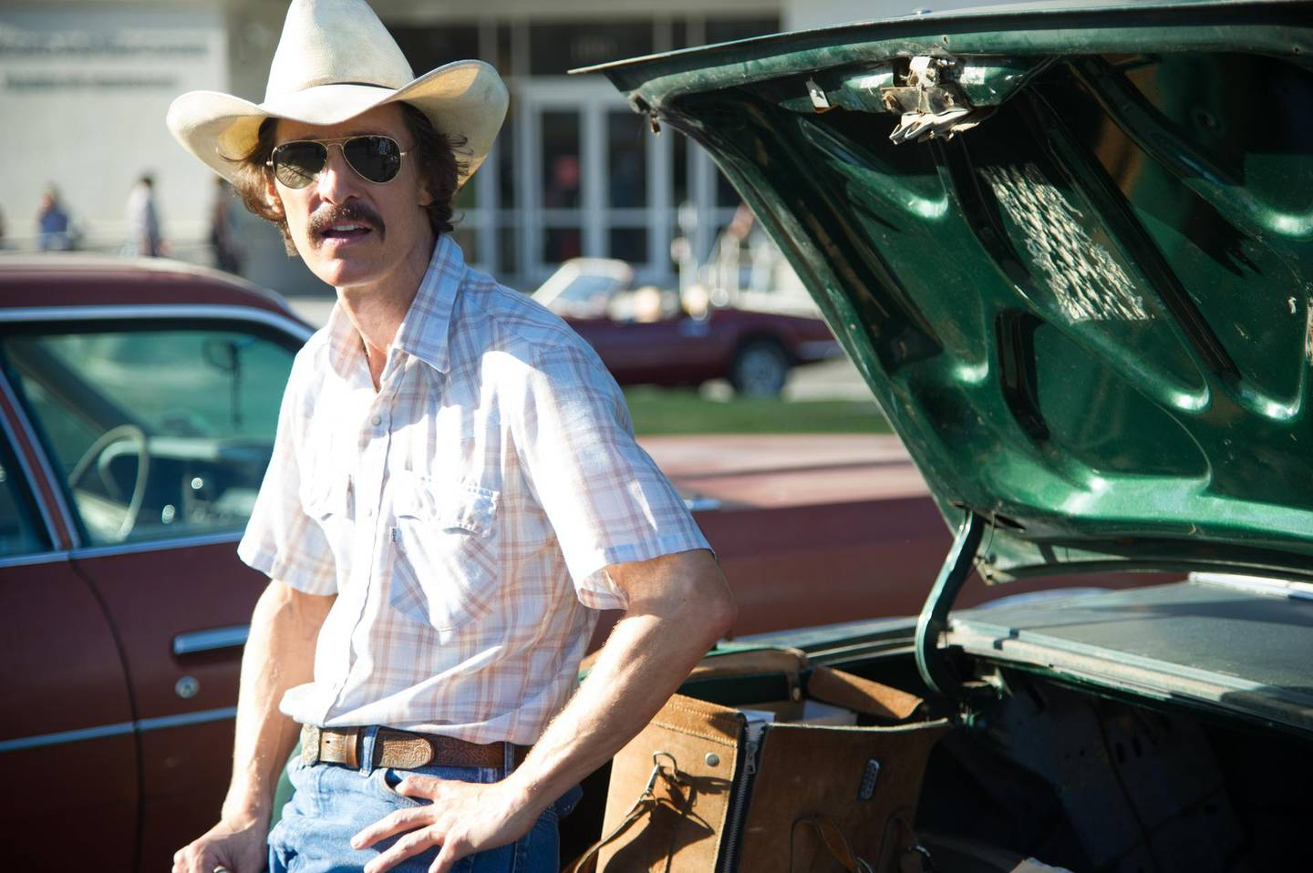 """Matthew McConaughey as Ron Woodroof in a scene from the film, """"Dallas Buyers Club."""" CREDIT: Courtesy Focus Features"""