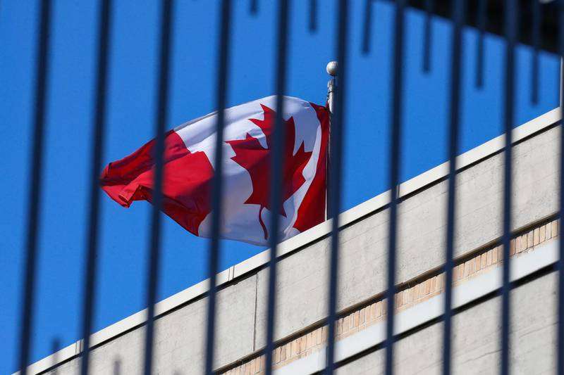 epa07285165 A Canadian flag flies at the Canadian embassy in Beijing, China, 15 January 2019. A Chinese court issued a death sentence to Robert Lloyd Schellenberg of Canada for drug smuggling. On 14 January 2019, following an appeal, a high court in Dalian city changed the man's previous 15 years in prison sentence for drug smuggling and sentenced him to death, saying his previous sentence was too lenient, according to media reports. The ruling comes during a diplomatic row between Canada and China after Canadian authorities arrested Meng Wanzhou, an executive for Chinese telecommunications firm Huawei, at the request of the USA.  EPA/ROMAN PILIPEY