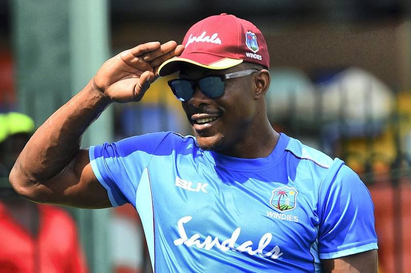 West Indies' Sheldon Cottrell takes part in a practice session at the Sinhalese Sports Club (SSC) International Cricket Stadium in Colombo on February 21, 2020. - West Indies will play three one day international (ODI) and two T20 cricket matches during their tour of Sri Lanka. (Photo by ISHARA S. KODIKARA / AFP)