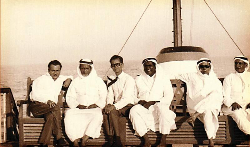 Early Baha'i travelling with late Sheikh Rashid bin Saeed Al Maktoum in Dubai. Courtsey: Motivate