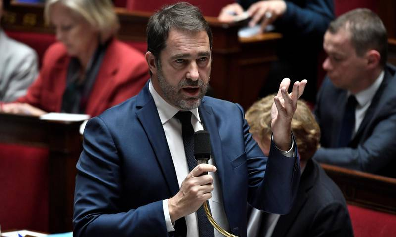 French Interior Minister Christophe Castaner speaks during a session of questions to the government at the National Assembly in Paris on January 15, 2019. / AFP / STEPHANE DE SAKUTIN