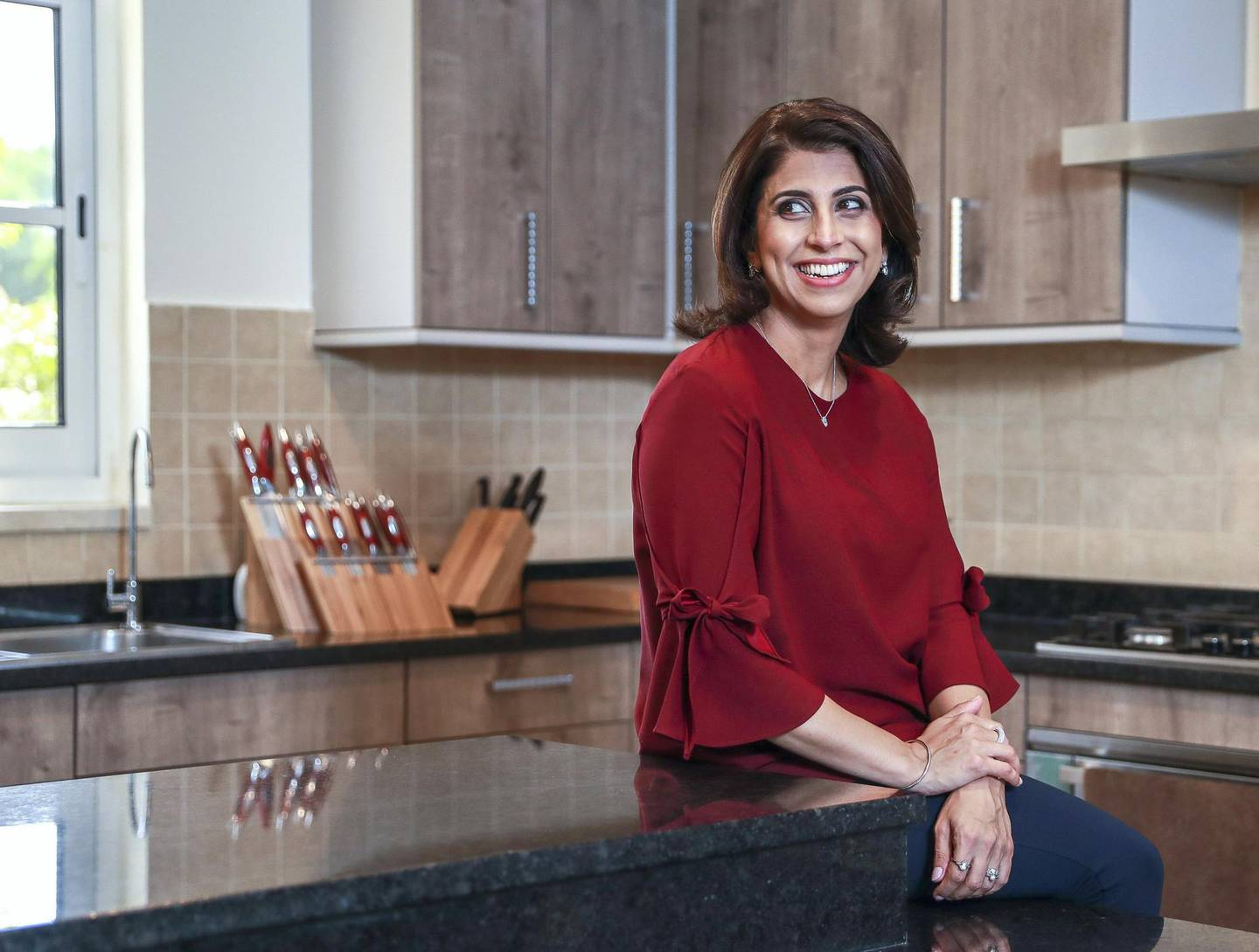 Dubai, U.A.E., August 26 , 2018. Halima Jumani, director of finance and operations at food home delivery service Kibsons.  Victor Besa/The NationalSection:  Business