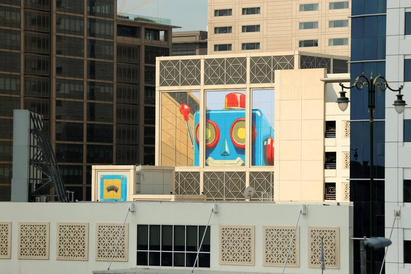 Dubai, United Arab Emirates - Reporter: N/A: Photo project. Street art and graffiti from around the UAE. Monday, January 27th, 2020. World trade centre, Dubai. Chris Whiteoak / The National