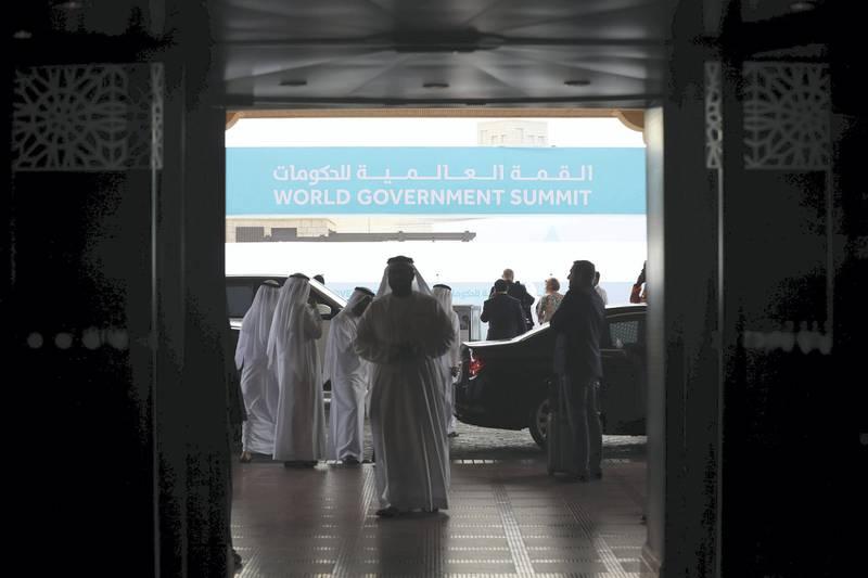 Dubai, United Arab Emirates - February 10, 2019: Day 1 at the World Government Summit. Sunday the 10th of February 2019 at Madinat, Dubai. Chris Whiteoak / The National