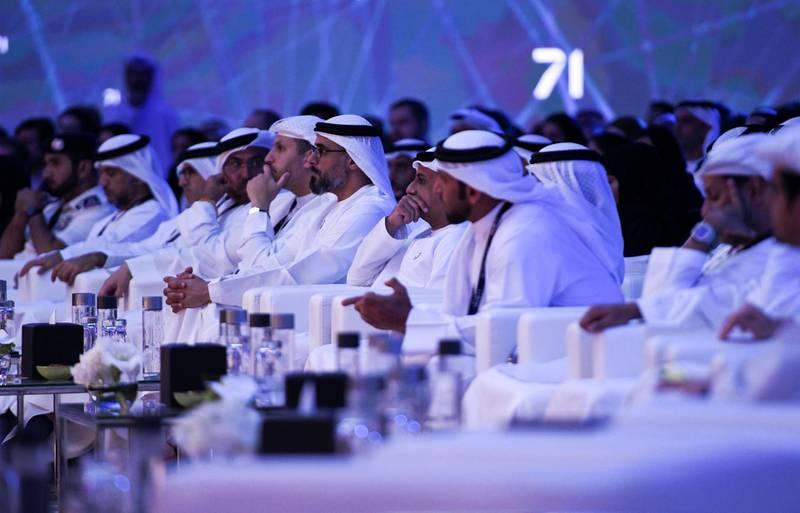 Abu Dhabi, United Arab Emirates - The launch of HUB71 at Rosewood Hotel, Al Maryah Island. Khushnum Bhandari for The National