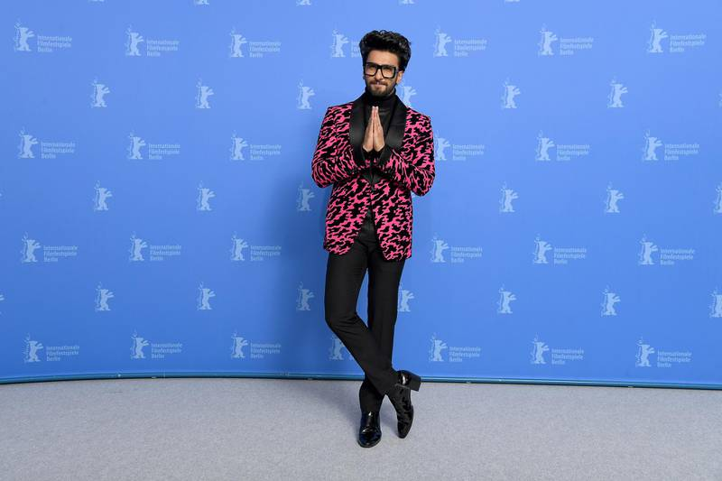 """BERLIN, GERMANY - FEBRUARY 09: Ranveer Singh poses at the """"Gully Boy"""" photocall during the 69th Berlinale International Film Festival Berlin at Grand Hyatt Hotel on February 09, 2019 in Berlin, Germany. (Photo by Pascal Le Segretain/Getty Images)"""
