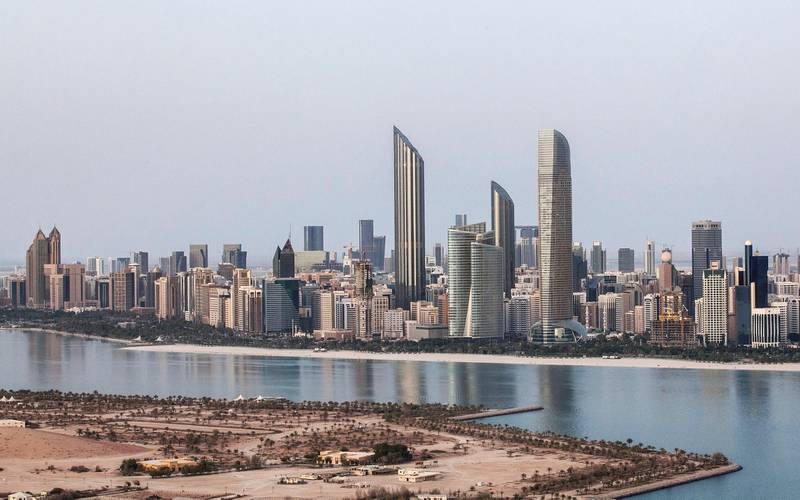 Abu Dhabi, United Arab Emirates. May 24, 2015///Abu Dhabi skyline, view from Fairmont construction site near Marina Mall, for stock. Abu Dhabi, United Arab Emirates. The  Burj Mohammed Bin Rashid Tower is the tall pointed tower on the left. Mona Al Marzooqi/ The National Section: National