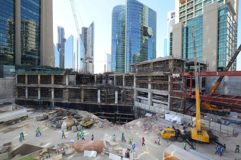 Construction of Gate Avenue at DIFC. Courtesy DIFC Authority