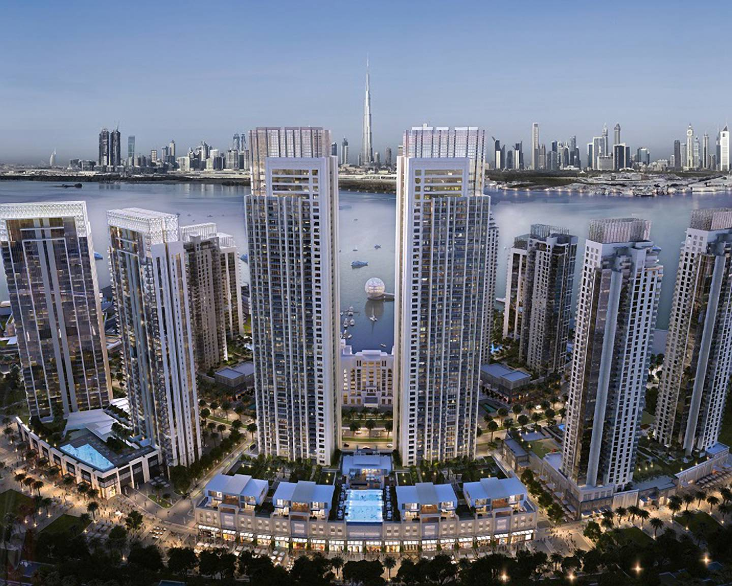 Dubai, UAE; January 17, 2016: Emaar Properties launches 'Harbour Views' residences in The Island District of Dubai Creek Harbour. The 6 sq km integrated two-tower development with a three-level podium will be the tallest residential project of its kind in the Island District and will be defined by its central location and views. Courtesy Emaar *** Local Caption ***  Harbour Views at Dubai Creek Harbour 3.jpg