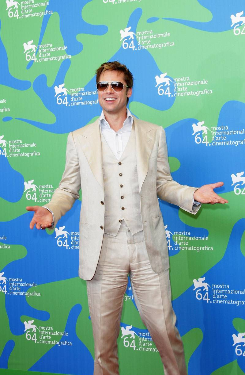 VENICE, ITALY - SEPTEMBER 02:  Actor Brad Pitt attends The Assassination Of Jesse James By The Coward Robert Ford photocall in Venice during day 5 of the 64th Venice Film Festival on September 2, 2007 in Venice, Italy.  (Photo by Franco Origlia/Getty Images)