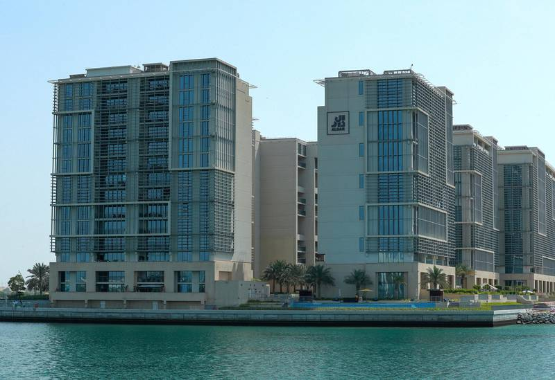 Abu Dhabi, United Arab Emirates, March 2, 2021.   Stock images of Yas residential areas.  The Al Zeina residential buildings.Victor Besa / The NationalSection:  NA