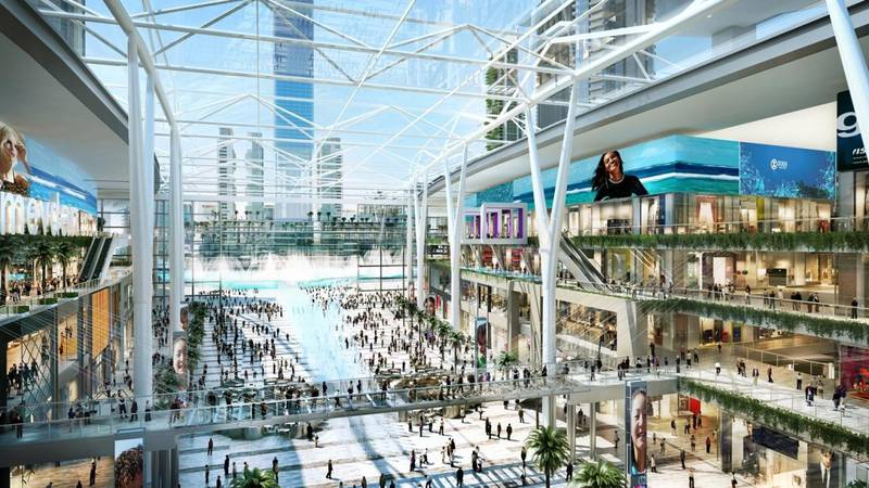 Dubai, UAE, 15 March 2017 Ð His Highness Sheikh Mohammed bin Rashid Al Maktoum, Vice President and Prime Minister of the UAE and Ruler of Dubai, has officially launched the groundbreaking of the new Meydan One Mall development. Courtesy The Meydan Group *** Local Caption ***  on16mr-meydan-03.jpg