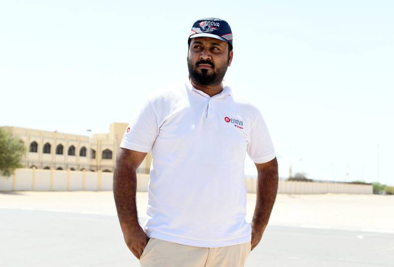 Residents and Heat in Sweihan-AD  Syed Ali, 31 from Pakistan works as a maintenance supervisor, and lives in Sweihan for the past 5 years on June 9, 2021. Reporter: Haneen Dajani News