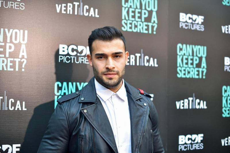 """HOLLYWOOD, CALIFORNIA - AUGUST 28: Sam Asghari attends the premiere of Vertical Entertainment's """"Can You Keep A Secret?"""" at ArcLight Hollywood on August 28, 2019 in Hollywood, California.   Matt Winkelmeyer/Getty Images/AFP (Photo by Matt Winkelmeyer / GETTY IMAGES NORTH AMERICA / Getty Images via AFP)"""