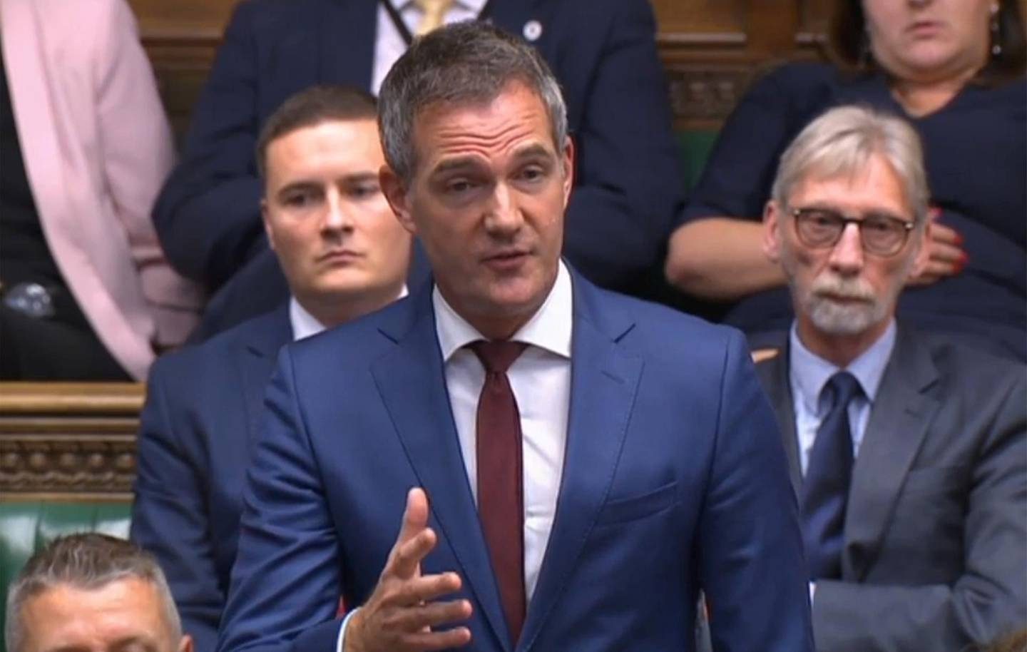 """A video grab from footage broadcast by the UK Parliament's Parliamentary Recording Unit (PRU) shows Labour MP Peter Kyle speaking in the debate on the Brexit deal in the House of Commons in London on October 19, 2019. - British MPs gather Saturday for a historic vote on Prime Minister Boris Johnson's Brexit deal, a decision that could see the UK leave the EU this month or plunge the country into fresh uncertainty. (Photo by - / PRU / AFP) / RESTRICTED TO EDITORIAL USE - MANDATORY CREDIT """" AFP PHOTO / PRU """" - NO USE FOR ENTERTAINMENT, SATIRICAL, MARKETING OR ADVERTISING CAMPAIGNS"""