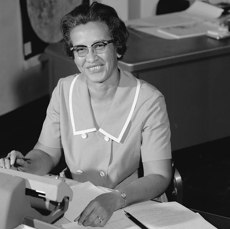"""This 1966 NASA file handout photo shows Katherine Johnson, in NASA's early years, the gifted mathematician who analyzed and verified complex aerospace data, becoming an integral part of the Space Task Group, a core group of researchers who made American manned space travel a reality. - Katherine Johnson, whose calculations enabled Apollo 11 to land on the moon, died on February 24, 2020 at 101. Her story was told in the film """"Hidden Figures."""" (Photo by Handout / NASA / AFP) / RESTRICTED TO EDITORIAL USE - MANDATORY CREDIT """"AFP PHOTO /NASA/HANDOUT """" - NO MARKETING - NO ADVERTISING CAMPAIGNS - DISTRIBUTED AS A SERVICE TO CLIENTS"""