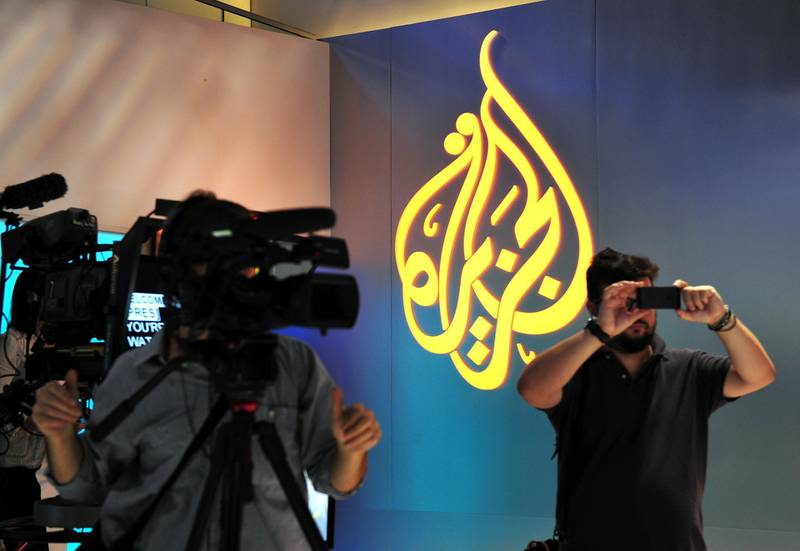 Journalists get a tour of the new Al Jazeera America studio on West 34th Street August 16, 2013 in New York. Al Jazeera America, which will launch on August 20, will have its headquarters in New York. AFP PHOTO/Stan HONDA / AFP PHOTO / STAN HONDA