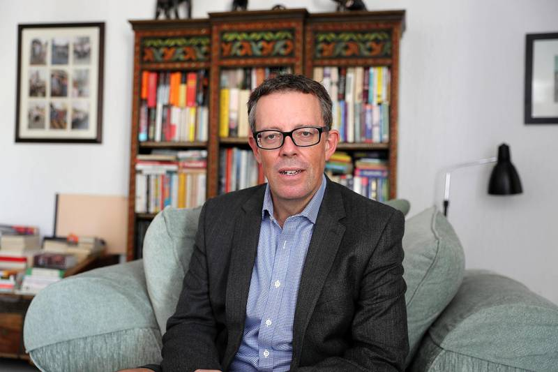 DUBAI , UNITED ARAB EMIRATES , MARCH 7  – 2018 :- James Mullan , co – founder of whichschooladvisor.com at his home in Jumeirah in Dubai. ( Pawan Singh / The National ) For POAN