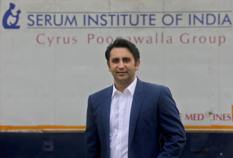 FILE PHOTO: Adar Poonawalla, Chief Executive Officer (CEO) of the Serum Institute of India poses for a picture at the Serum Institute of India, Pune, India, 30 November 2020. REUTERS/Francis Mascarenhas/File Photo/File Photo